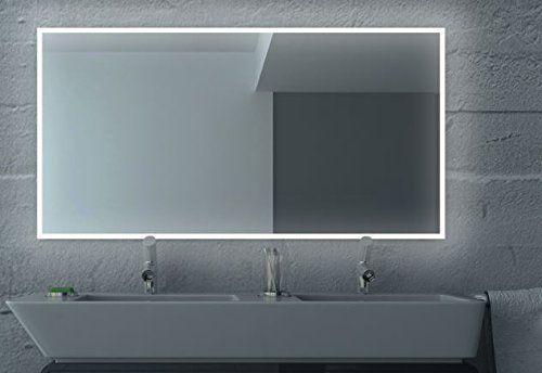 LED Badezimmerspiegel BADSPIEGEL Wandspiegel Bad Spiegel Lichtspiegel S100  (Breite: 120 X Höhe: 70