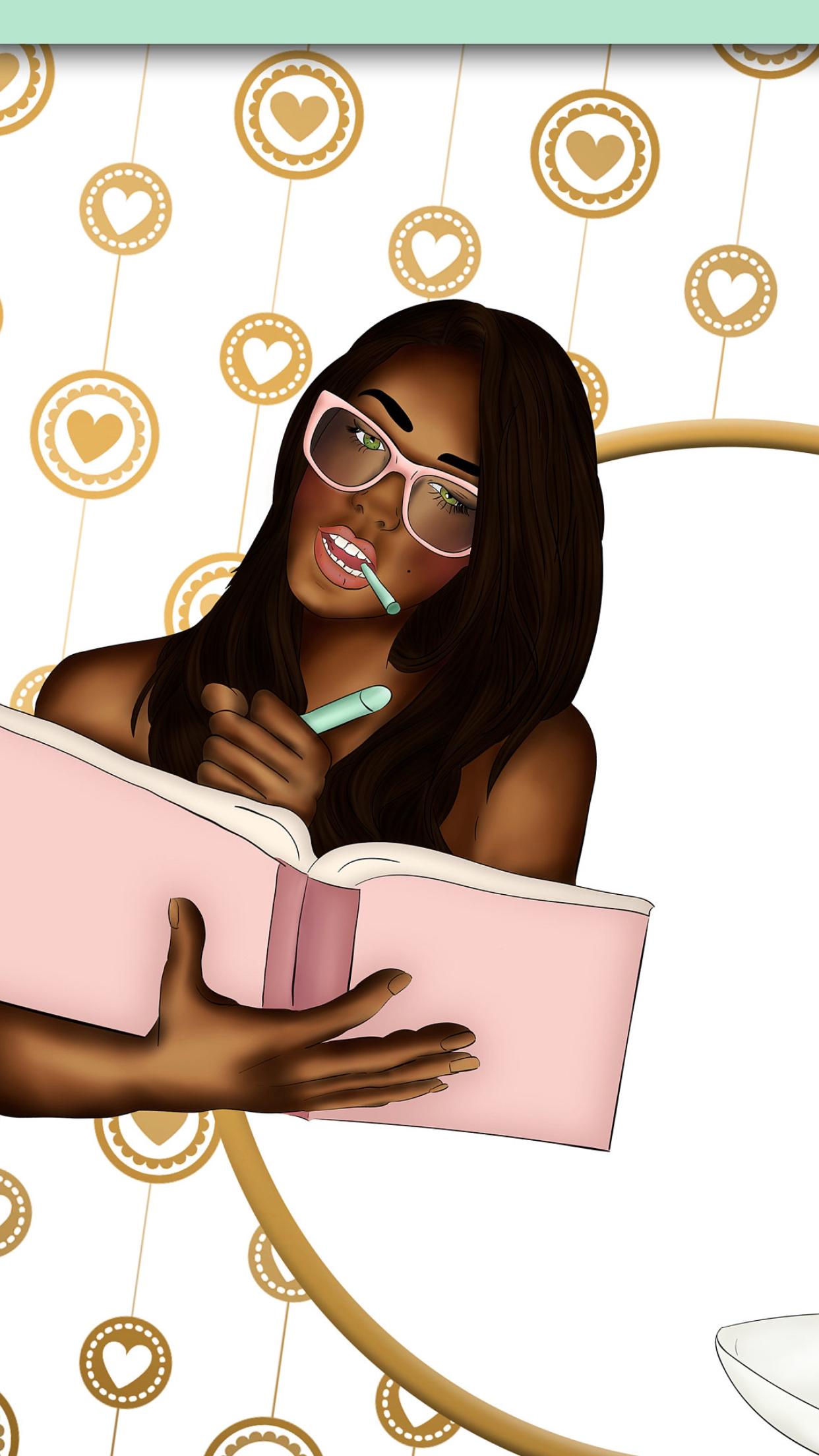 Pin By Nyeema Mulder On Wallpapers Black Women Art Black Girl