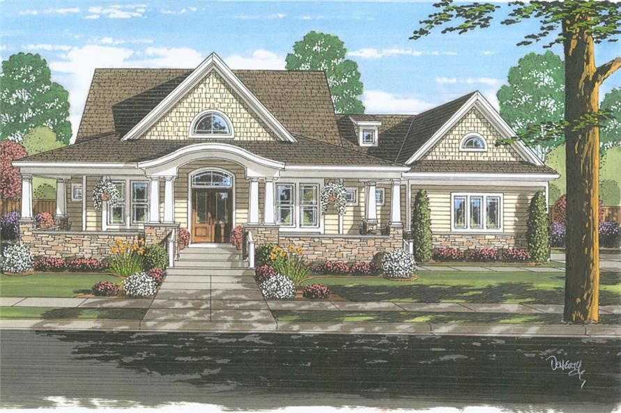 4 Bedroom Cape Cod House Plan First Floor Master Garage Country Style House Plans Craftsman House Plans Country House Plans