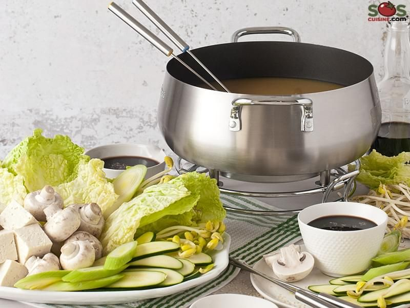 Vegetarian Chinese Fondue #brothfonduerecipes