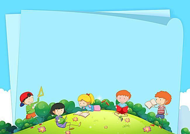 La educación de los niños de dibujos animados paneles de fondo