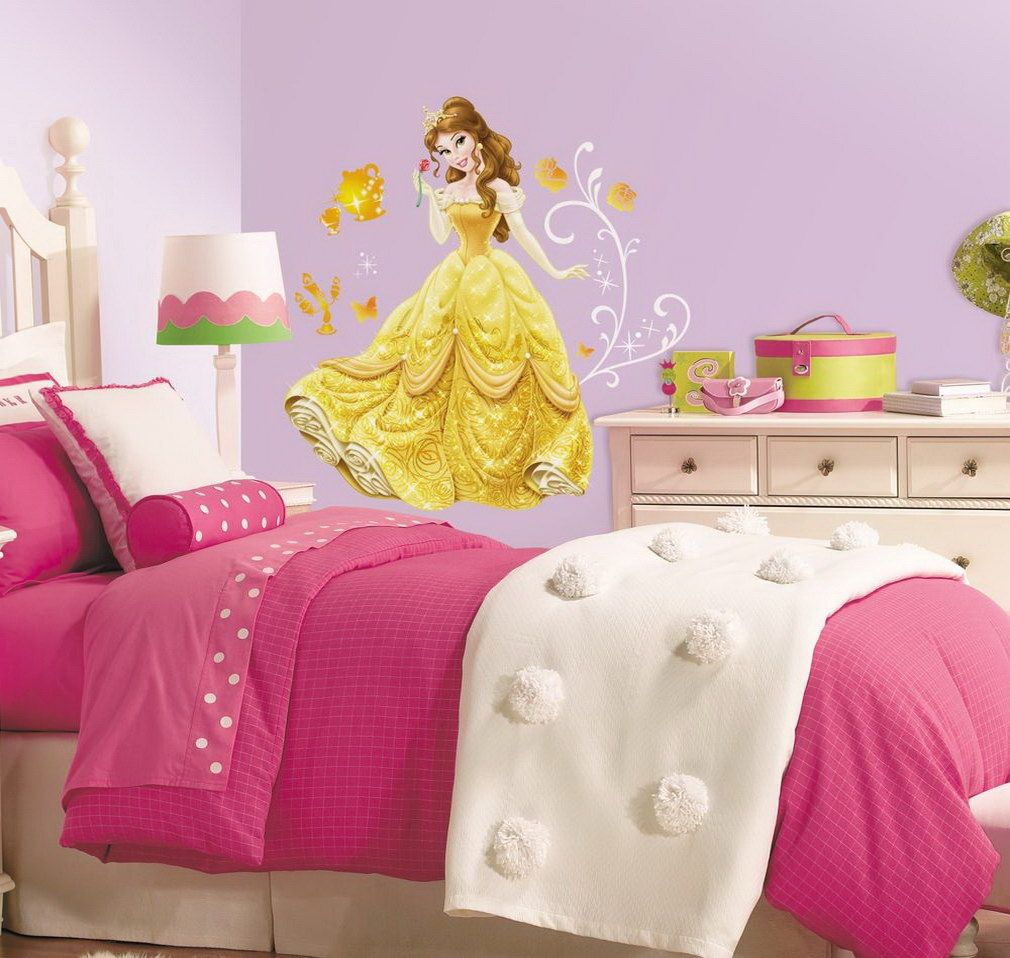 Princess Belle Room Decor Kids Bed Rooms Disney Princess Bedroom With Thick Pink Comforter