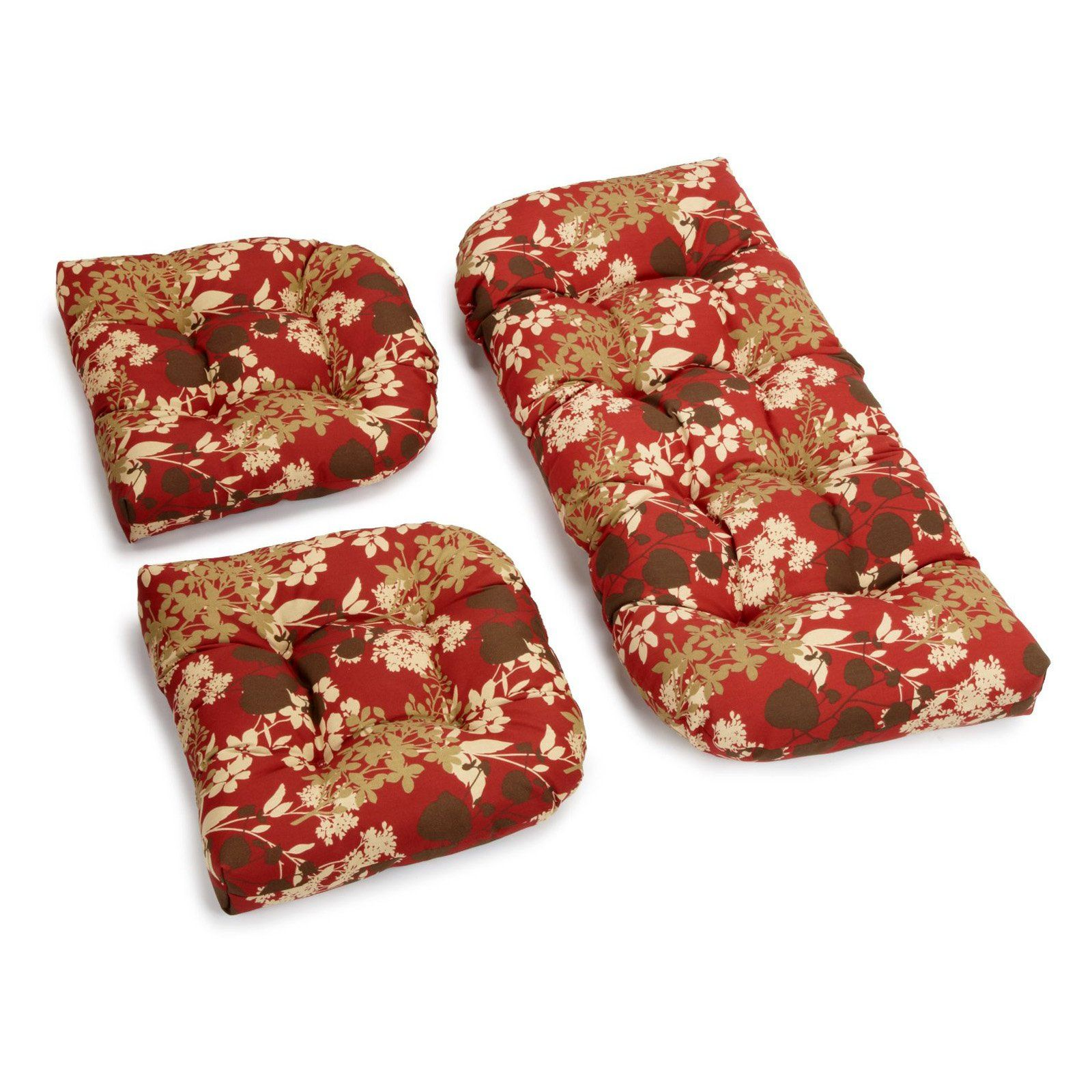 Have to have it Blazing Needles Outdoor Wicker Settee Cushions