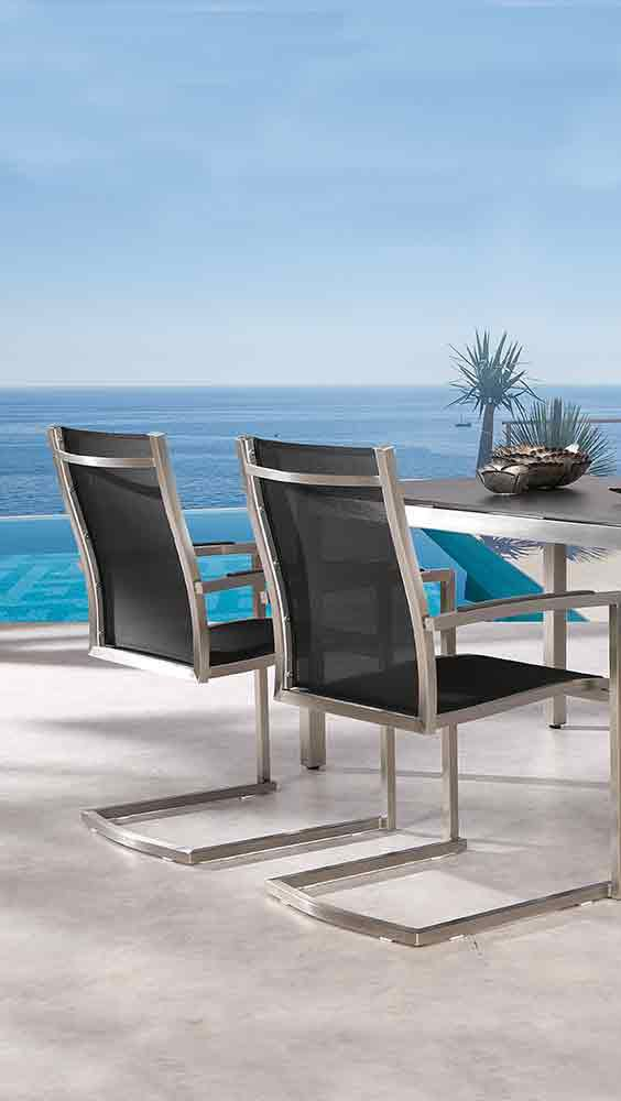 Moderne Gartenstühle moderne gartenstühle im edlen edelstahl design gartenstühle