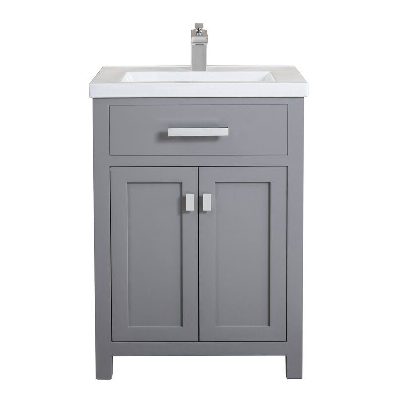 Zipcode Design Knighten 24 Single Bathroom Vanity Set Reviews Wayfair Single Bathroom Vanity Bathroom Vanity Vanity
