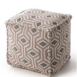 Photo of benuta Pouf Palma Taupe 50x50x50 cm – Moderner Teppich für Wohnzimmer benuta