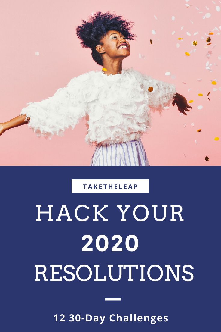 New years resolutions are hard. Try 12 mini resolutions each month in 2020! #resolution #challenges...