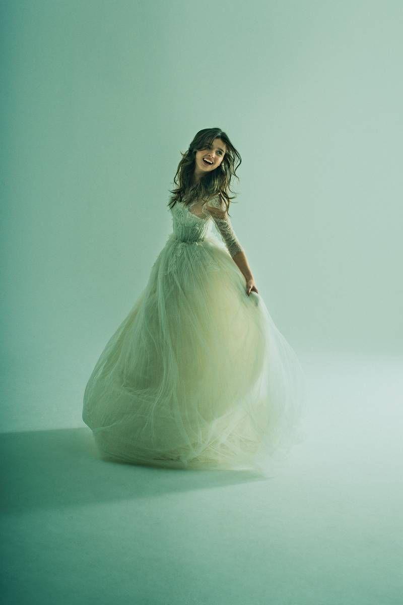 pretty #wedding dress with #sleeves