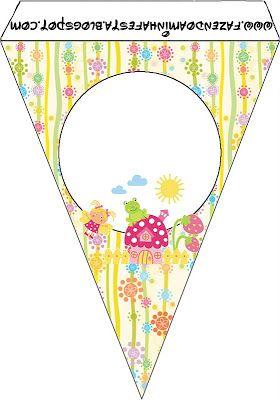 Jardim Encantado Fadinha - Kit Completo com molduras para convites, rótulos para guloseimas, lembrancinhas e imagens!