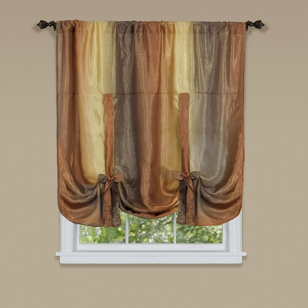 Ombre Tie Up Window Shade 50 X 63 Tie Up Shades Tie Up Curtains Burgundy Curtains