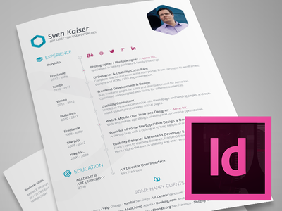 Vita  Resume Indesign Template Free Download  Print  Layouts