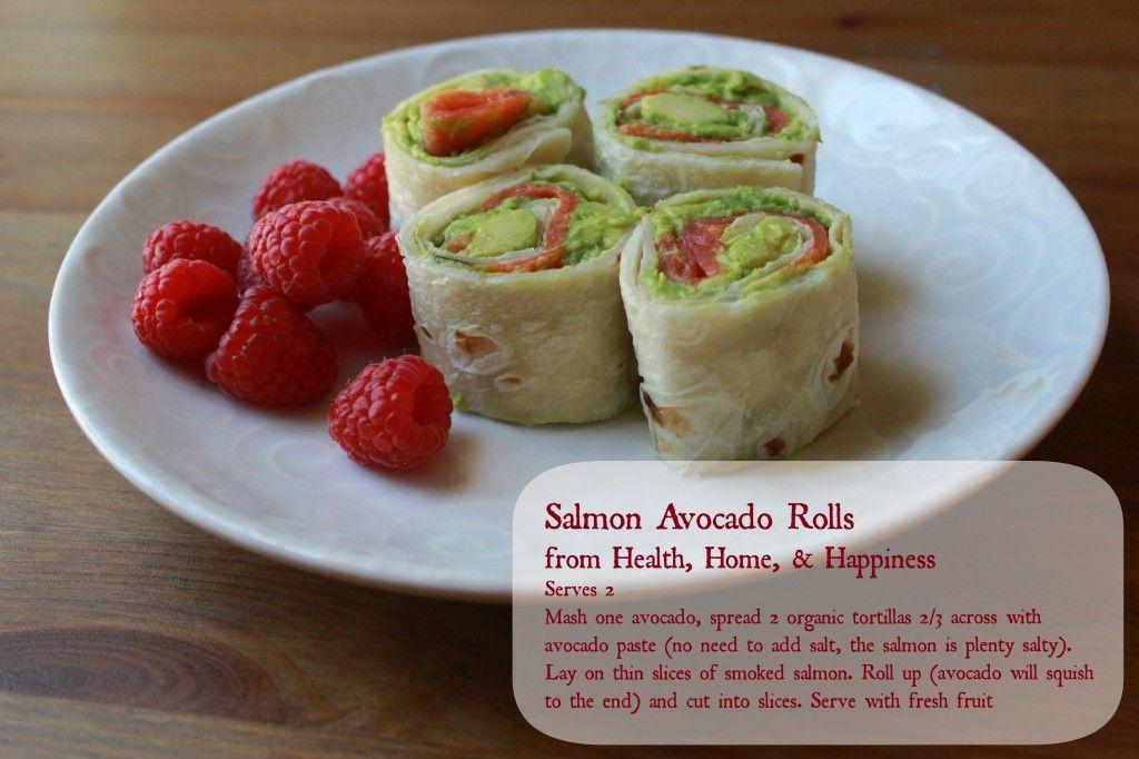 Avocado Salmon Wraps A Simple Lunch Idea Avocado Roll Salmon