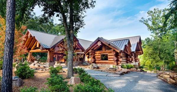 Is This a Rustic Log House or an Ultra-Modern Mansion