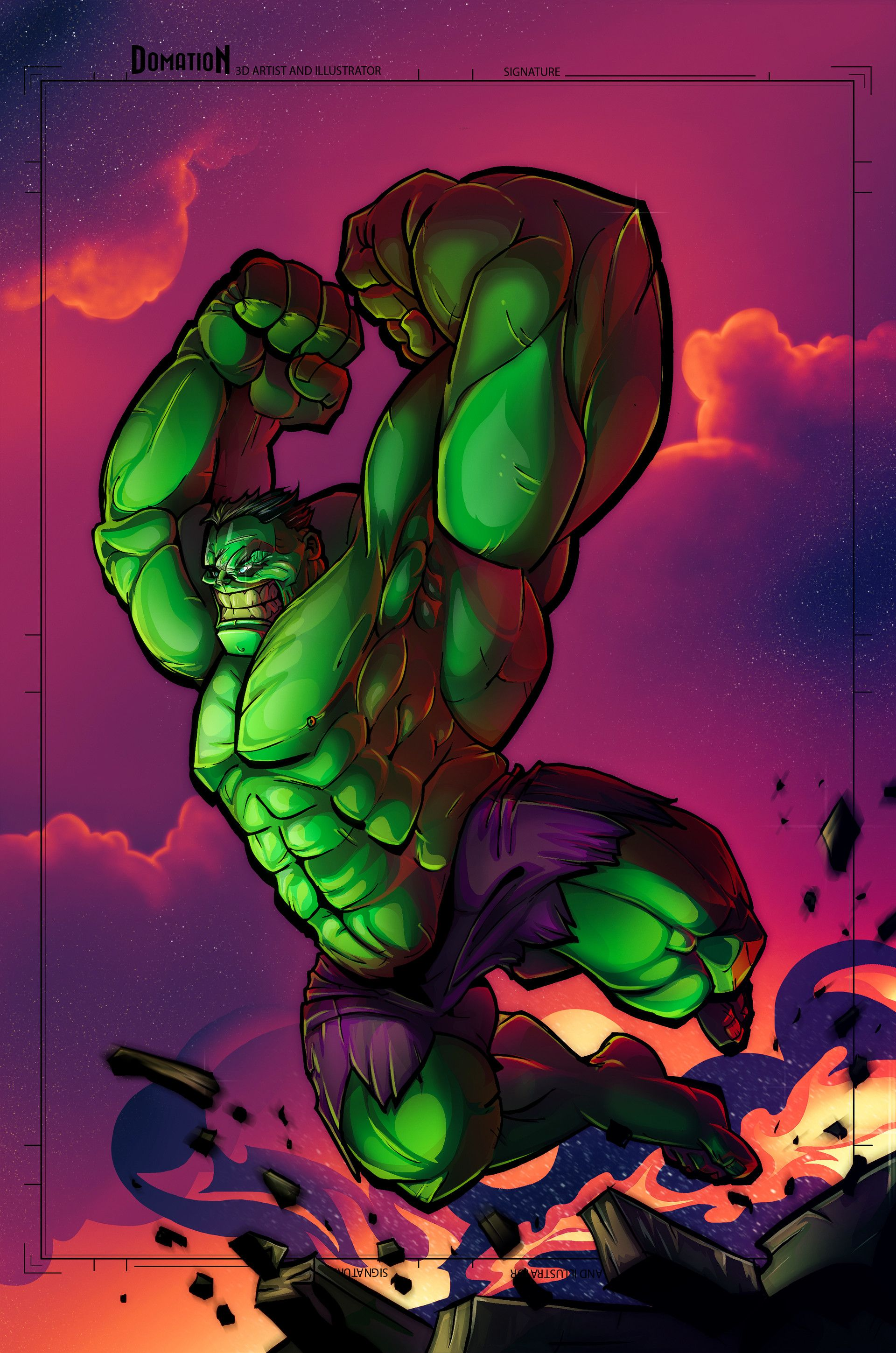 Hulk #Animated #Fan #Art. (Hulk) By: Dominic O\'Neill. (THE * 3 ...