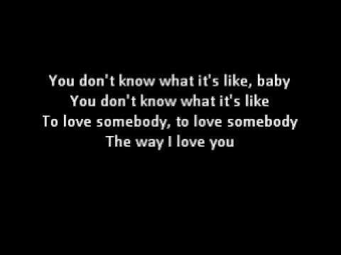 Lyrics Don T You Want Somebody To Love