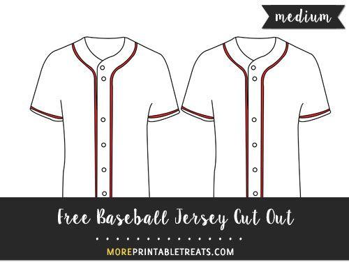Free Baseball Jersey Cut Out - Medium | Printables/Templates | Pinterest