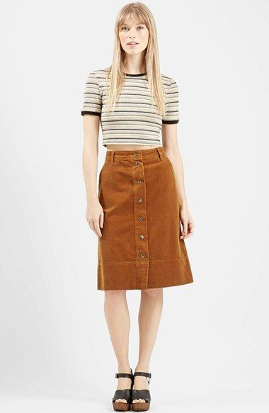95854d4c67 Topshop Button Front Corduroy Midi Skirt   Nordstrom   clothing in ...