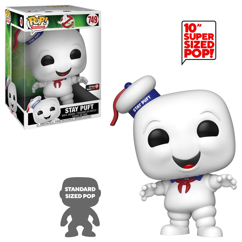 Pop Movies Ghostbusters Stay Puft 10 Inch Only At Gamestop Gamestop Funko Pop Ghostbusters Ghostbusters Vinyl Figures