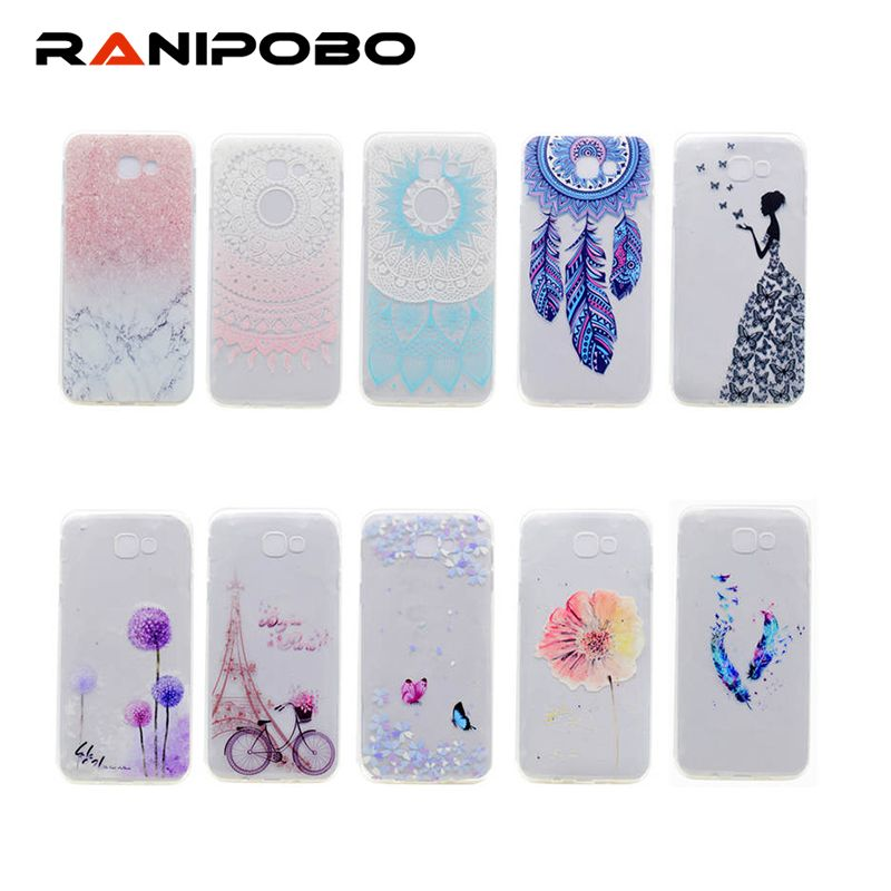 Beautiful Girl Painted Tpu Transparent Case Back Cover For Samsung