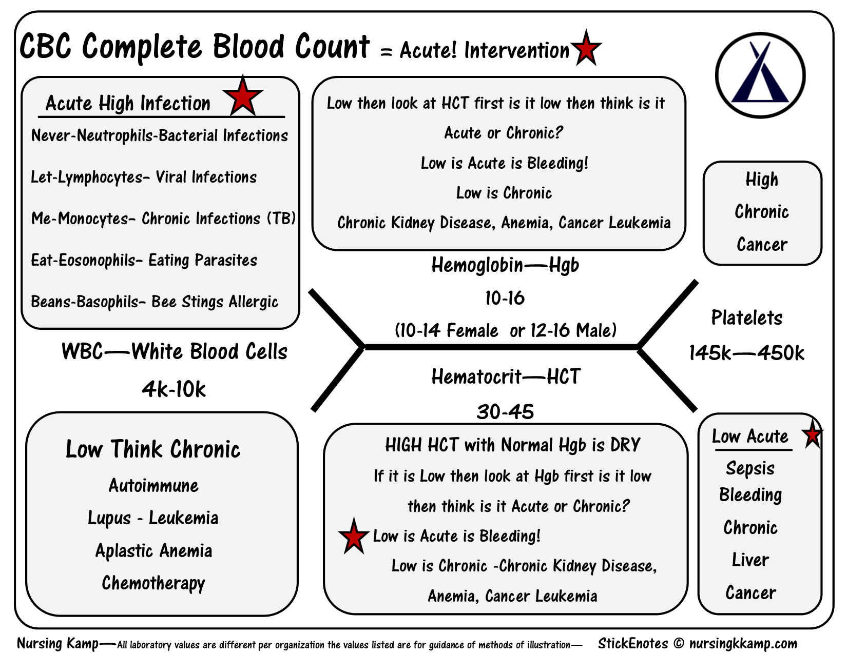 Nursing kamp the nurses notes on nursing the nurses notes cbc complete blood count wbc platelets hgb hct bmp fishbone diagram explaining labs from the blood book theses are the labs you should know hyponatrem ccuart Choice Image