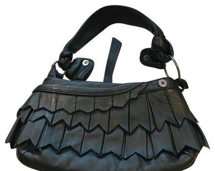 ba08894309a7 Jamin Puech Black Lambskin Leather Hobo Bag. Hobo bags are hot this season!  The