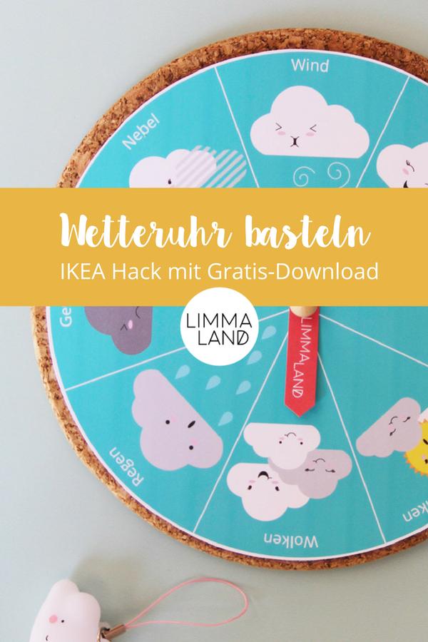 Wetteruhr Basteln Ikea Hack Mit Gratis Download Creative Kids