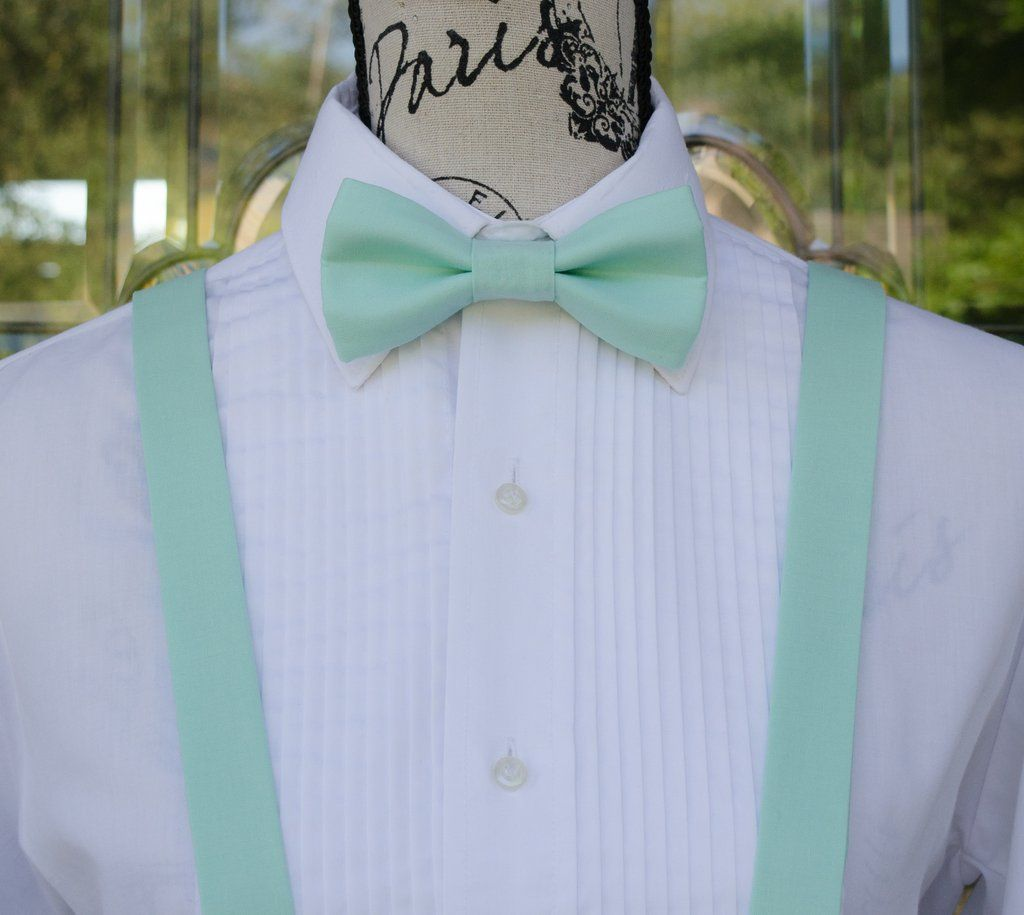 652bfe0126a3 51-34) Aqua Bow Tie and Suspenders Set | future wedding! in 2019 ...