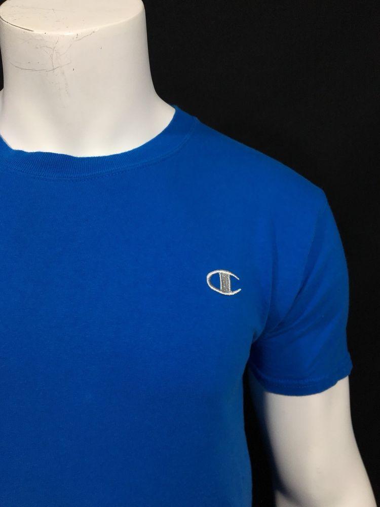 5a8b5da736ae Mens Champion Authentic Royal Blue Short Sleeve Crew Neck T Shirt Medium M  #fashion #clothing #shoes #accessories #mensclothing #shirts (ebay link)