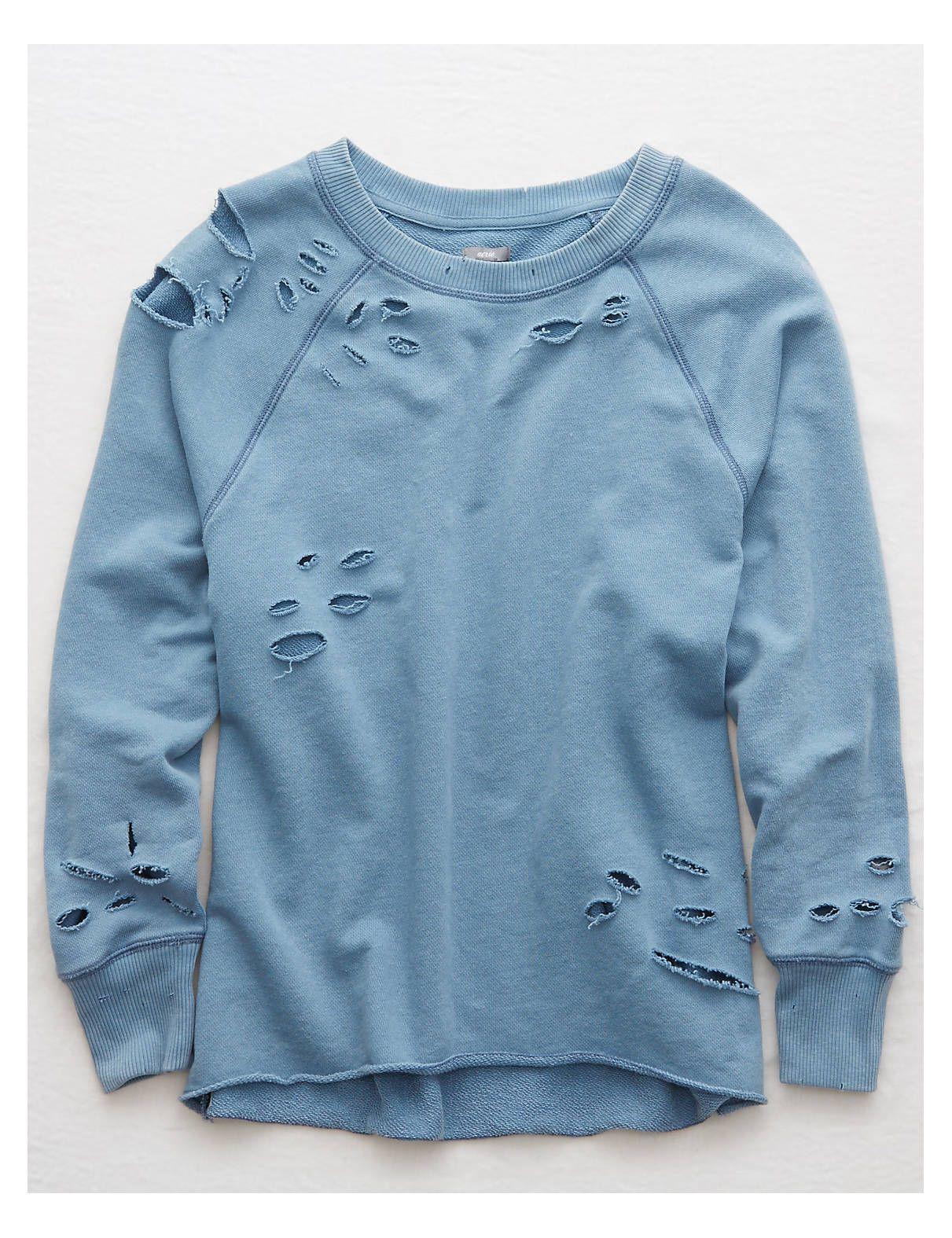 distressed pullover damen