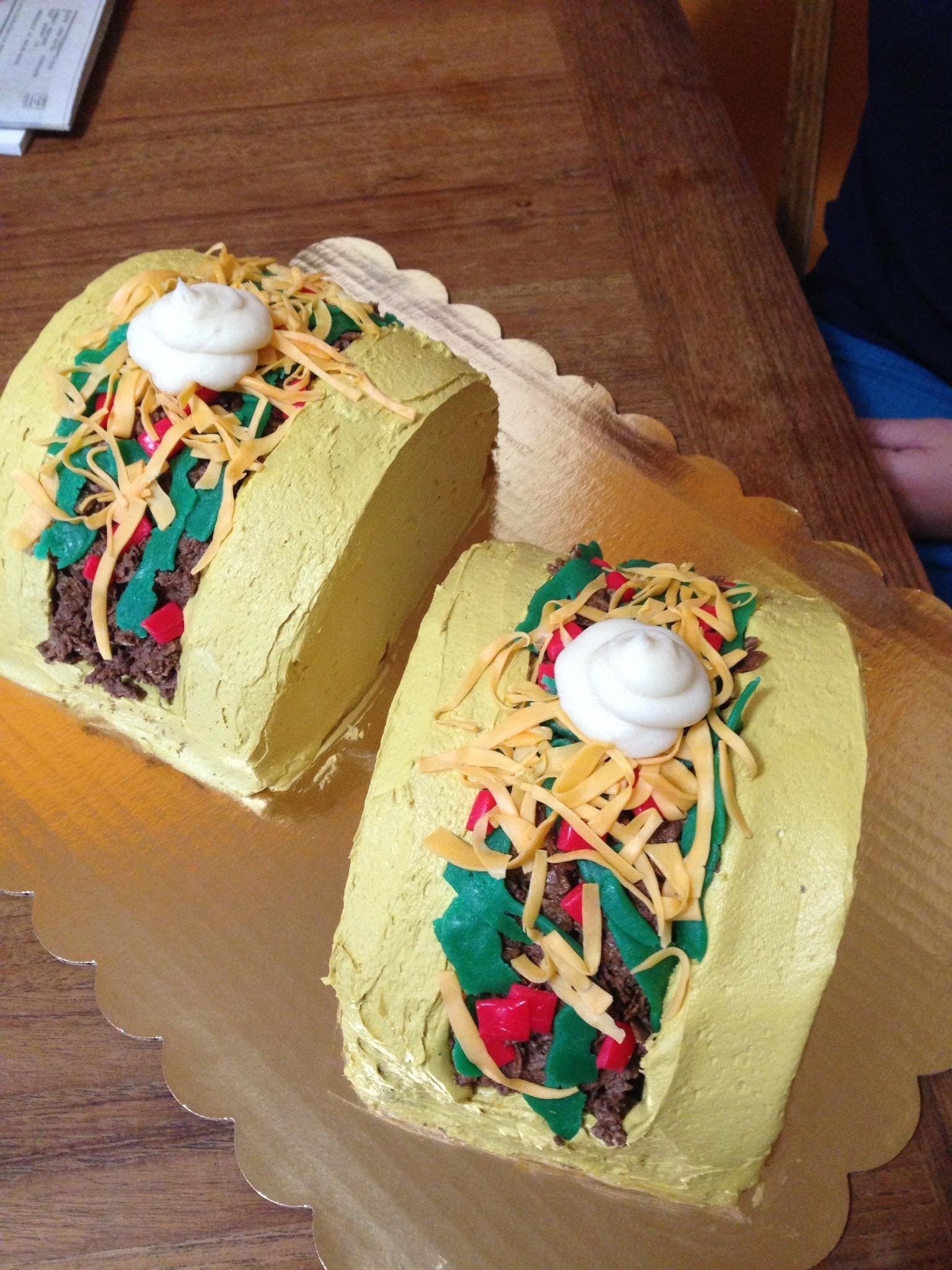 Taco Birthday Cake For Grandson 14th Birthday Cake Boy Birthday