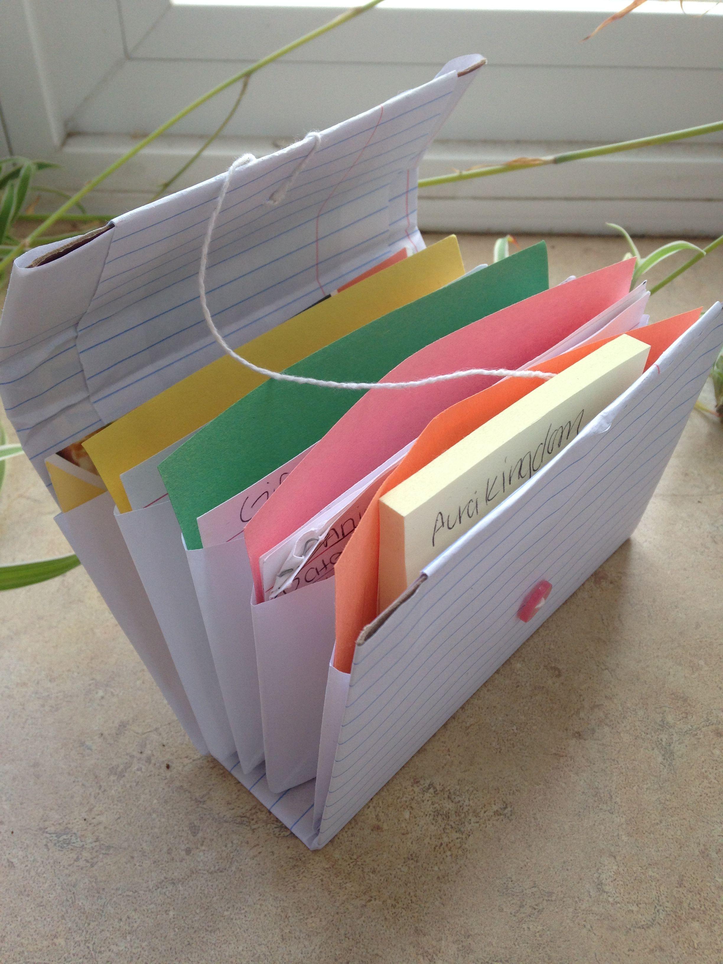 Diy Expandable Index Card Holder Using Cardboard Diy Index Cards Card Holder Diy Diy Note Cards