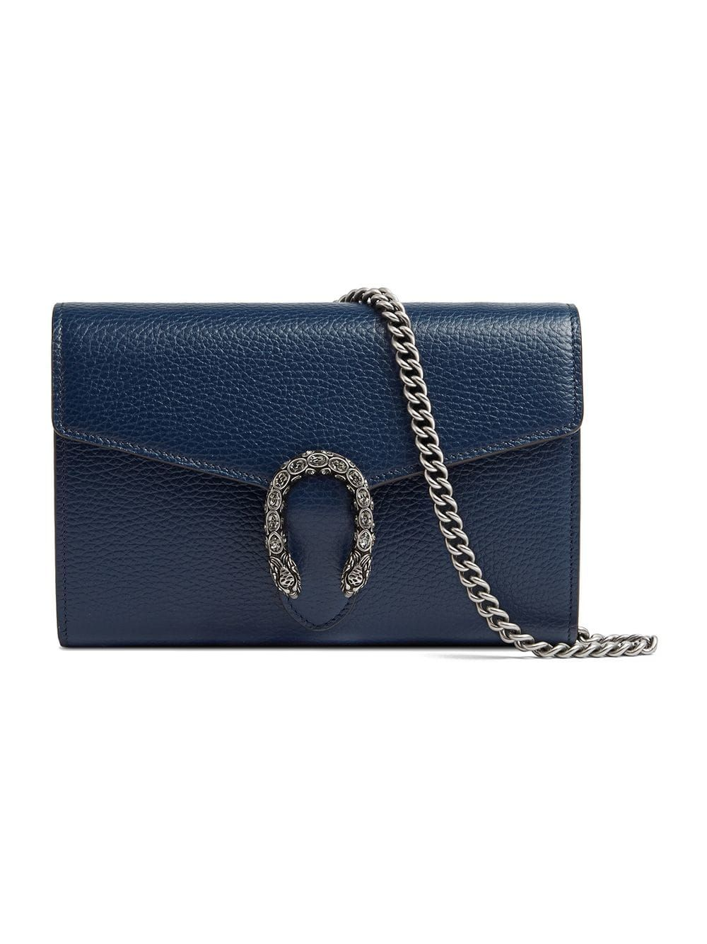GUCCI GUCCI DIONYSUS LEATHER MINI CHAIN BAG - BLUE.  gucci  bags  stone   crystal  leather  lining  accessories  shoulder bags  wallet 93a00474322c5