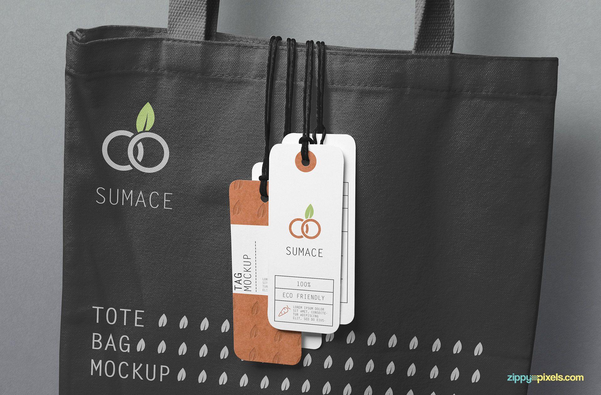 Download Free Hanging Tags Mockup Zippypixels Bag Mockup Clothing Mockup Tote Bag