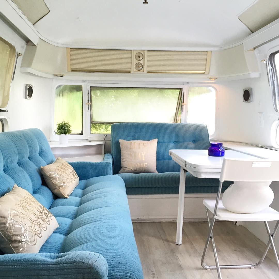 airstream blue couches | Adore | Pinterest | Airstream, Airstream ...