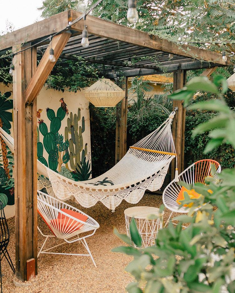 Sara Toufali On Instagram What Patio Dreams Are Made Of How Amaze Is This Tippleandramble Hammock In 2020 Outdoor Patio Space Backyard Hammock Beautiful Backyards