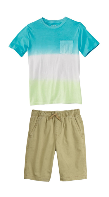 88c0179fd243 Easy boys summer outfits consist of a t-shirt and shorts! Check out ...
