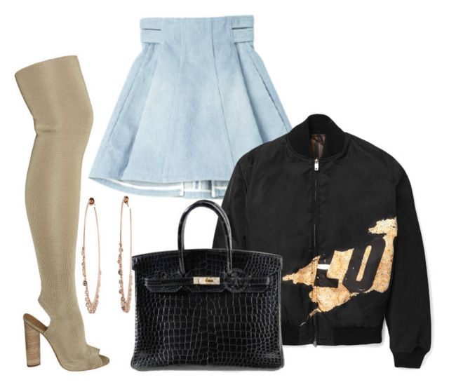 """""""Untitled #1118"""" by cheechchonghigh ❤ liked on Polyvore featuring YEEZY Season 2, Balmain, Givenchy and Hermès"""