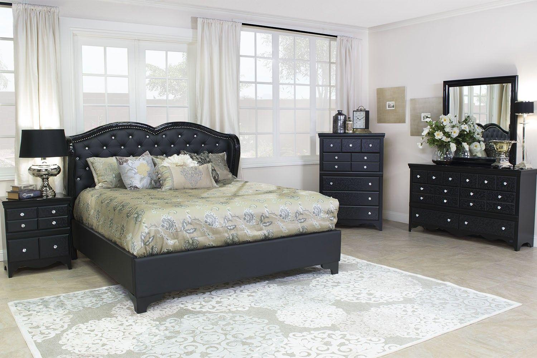 Mor Furniture for Less: The Eva Upholstered Bedroom | Mor ...