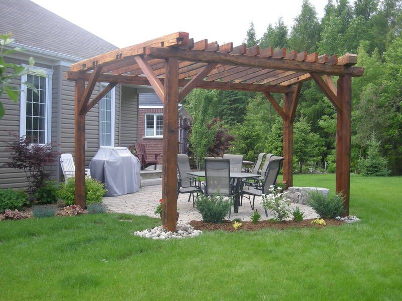 Barn Beam Pergola All About The Outdoors Pinterest