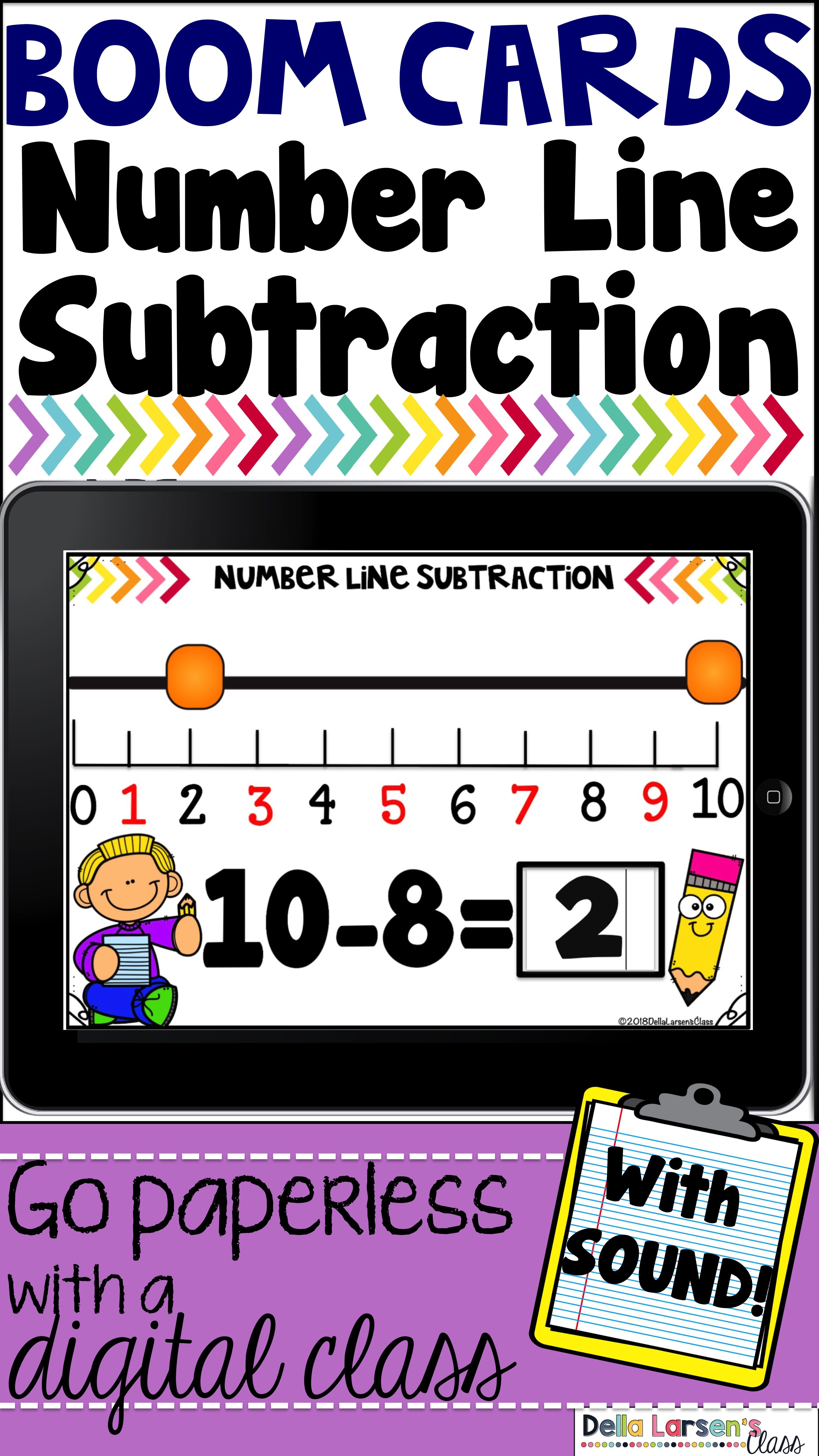 Boom Cards Number Line Addition And Subtraction Distance Learning Google Classroom Kindergarten Google Classroom Elementary Google Classroom Activities Addition and subtraction on number line