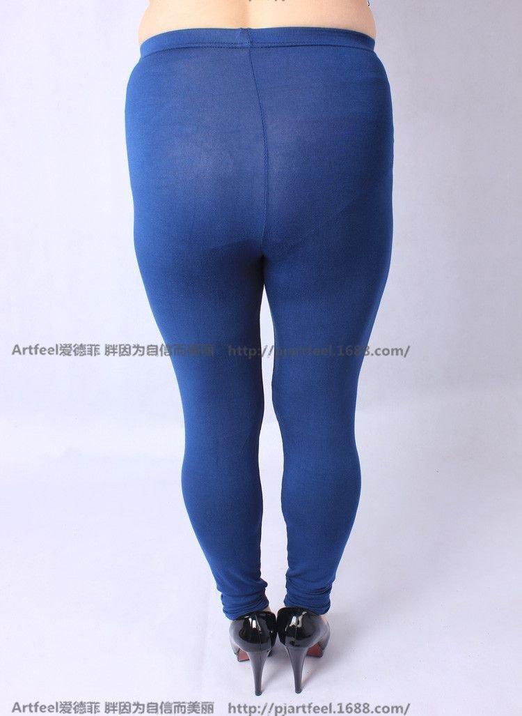 Colorful Leggings Women Summer Pants Plus Size Jeans Leggings Candy Color  Leggings Big Women Pants Bodycon Pants XXXL 2c77ff8be59c