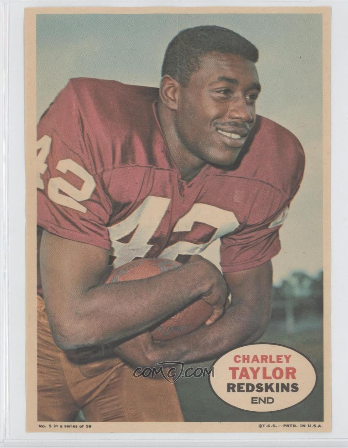 1968 Topps Poster Inserts 5 Charley Taylor Wide