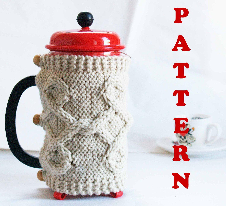 PATTERN Coffee Press CozyFrench Press Cozy Coffee Cozy by Odessete ...
