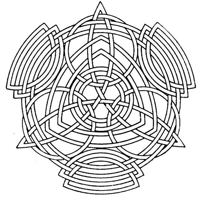 Difficult Geometric Design Coloring Pages | coloring pages printable ...
