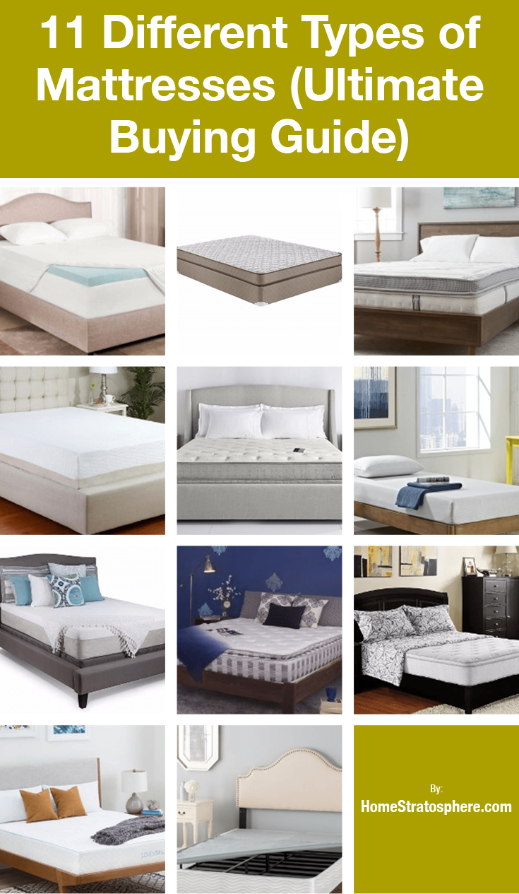12 Different Types of Bed Mattresses (Buying Guide for