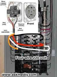 Image result for connecting 220 volt circuit | Electric ... on 220 plug diagram, 220v outlet diagram, wiring 220 outlet 3 wire, wiring 220 volt plug, wiring 220 volt outlet,