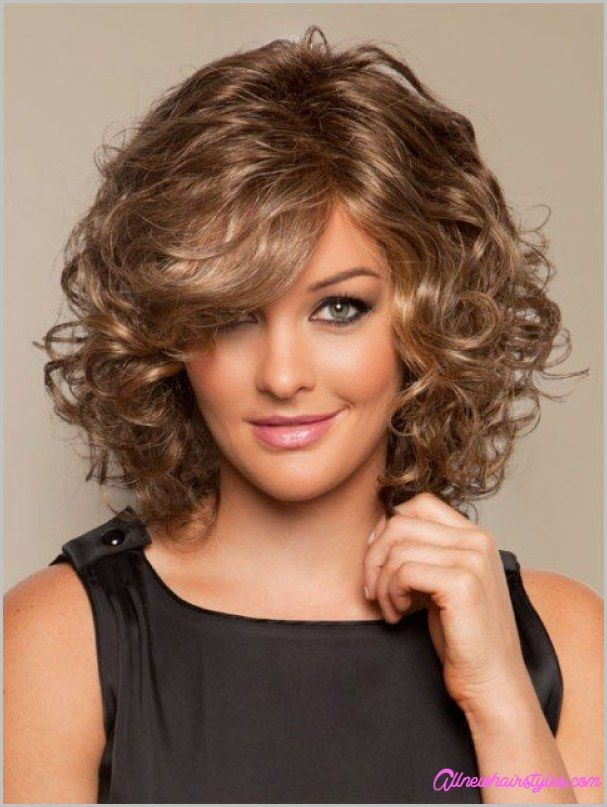 Short Curly Hairstyles For Round Faces Prepossessing Cool Medium Length Curly Haircuts For Round Faces  All New