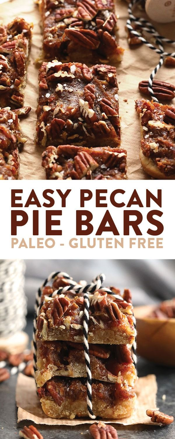 Easy Pecan Pie Bars with Date Caramel | Fit Foodie Finds