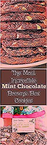 The Most Incredible Mint Chocolate Brownie Box Cookies with American Girl  Cookies  The Most Incredible Mint Chocolate Brownie Box Cookies with American Girl  Cookies