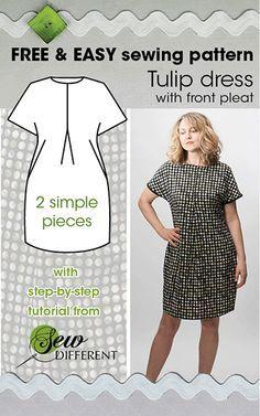 ROBE TULIPE – Patron de couture multi-tailles disponible sur papier ou à télécharger   – Sewingsky minsky